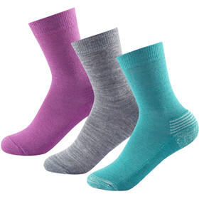 Devold Daily Medium Socken 3er Pack Kinder girl mix